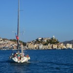 Approaching Poros, Greece