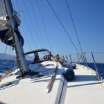 Sailing in greek water
