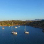 Drone foto van onze baai, caribean feeling