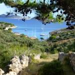 In een baaike op de Kornati eilanden, Kroatië