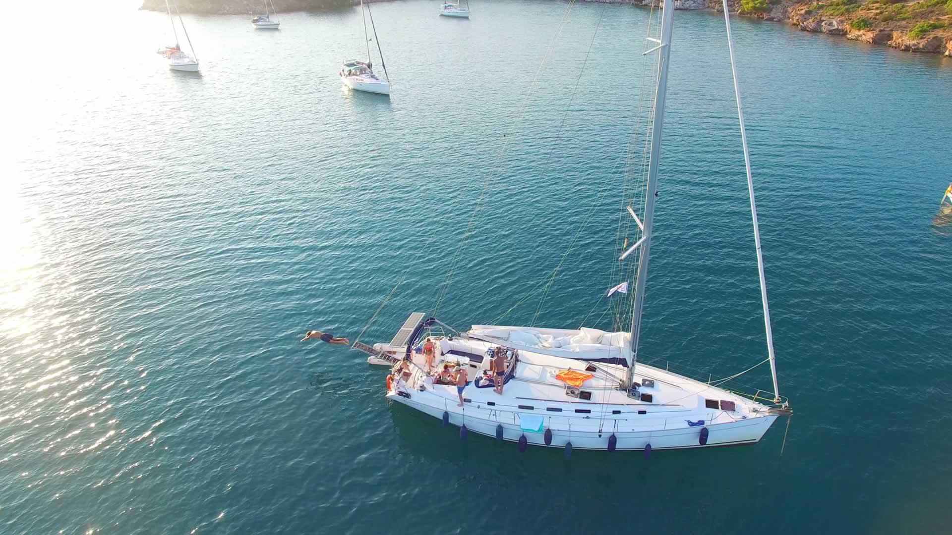 Onze boot in Griekenland
