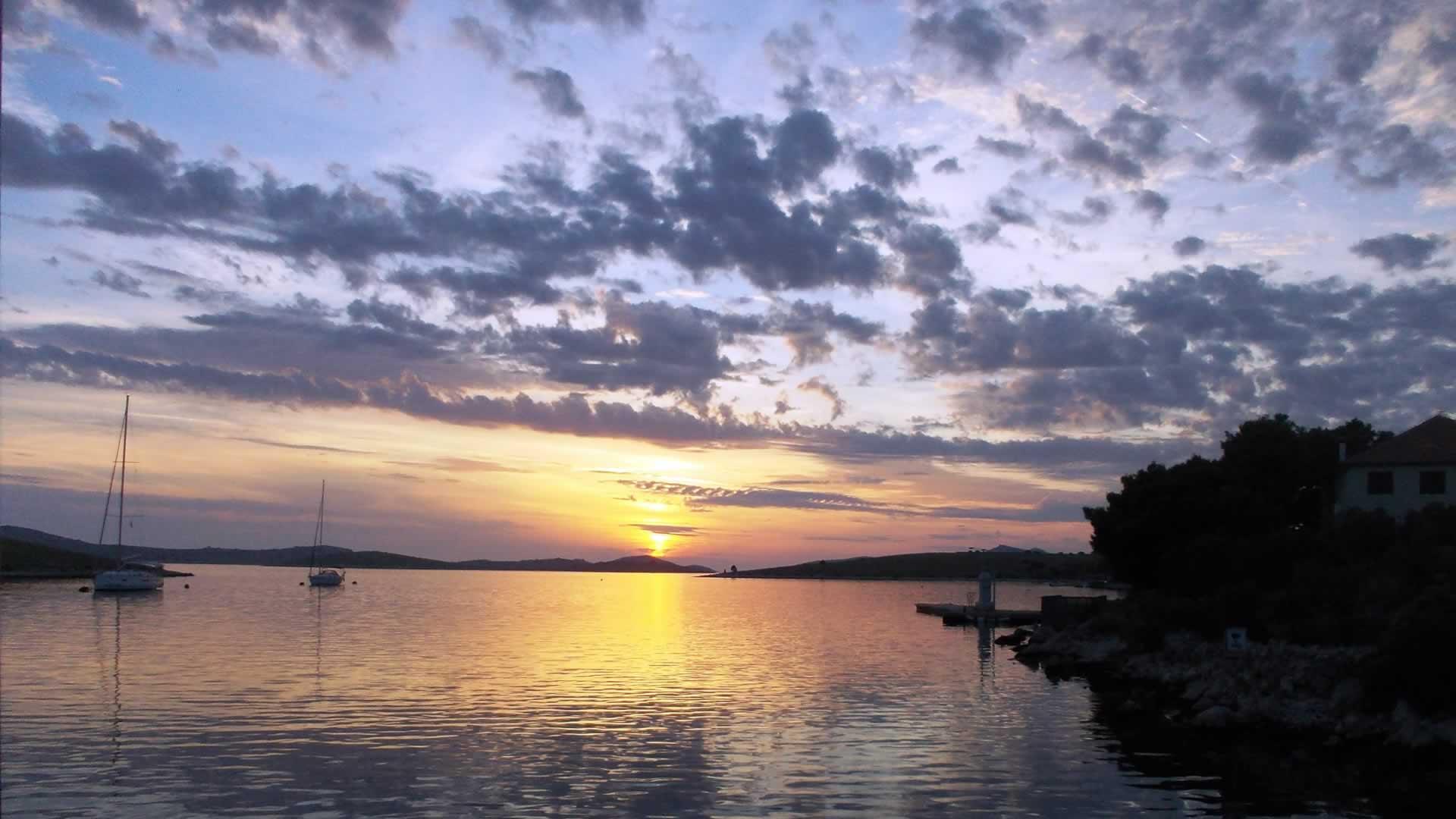 Zonsondergang in Kroatië